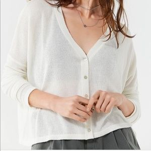 UO out from under white Courtney cardigan